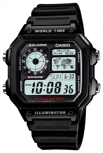Casio AE-1200WH-1A - Standart Digital (электронные)