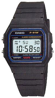 Casio F-91W-1Q - Standart Digital (электронные)